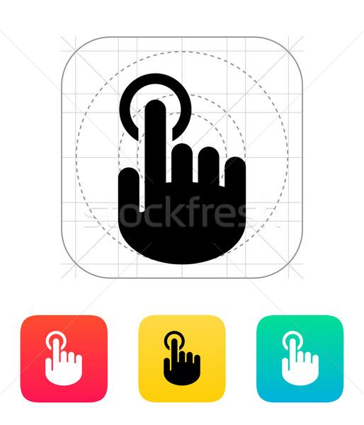 Stock photo: Hand finger id icon. Hand pointer symbol.