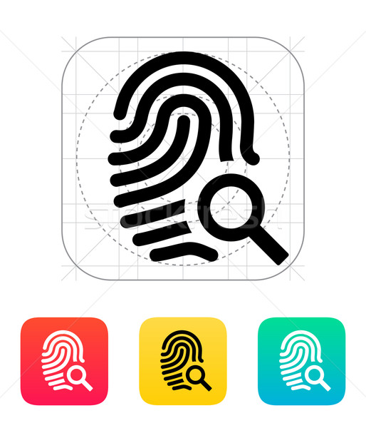 Fingerprint and thumbprint icon. Stock photo © tkacchuk