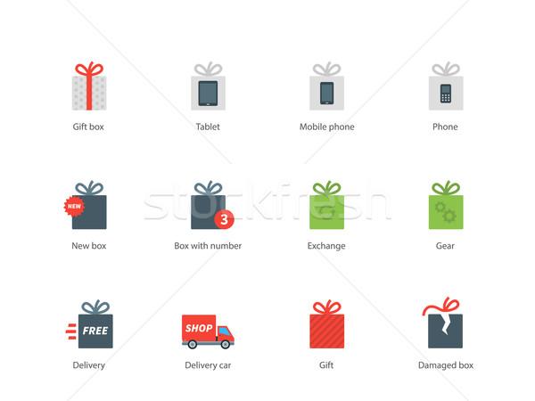 Zdjęcia stock: Technologii · przedstawia · kolor · ikona · biały