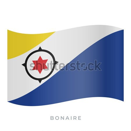 National flag of Bonaire with correct proportions, element, colors Stock photo © tkacchuk