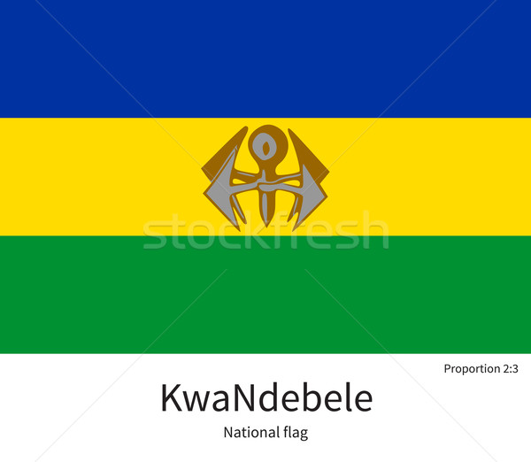 National flag of KwaNdebele with correct proportions, element, colors Stock photo © tkacchuk