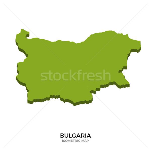 Isometric map of Bulgaria detailed vector illustration Stock photo © tkacchuk