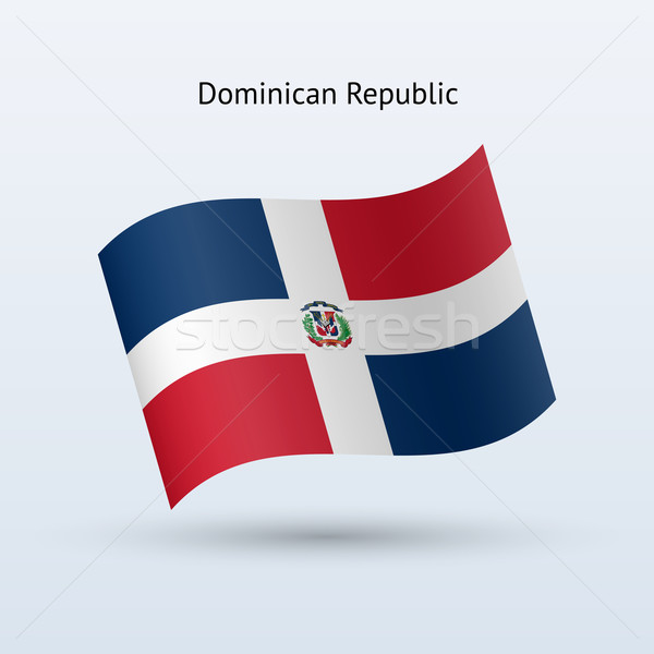 Dominican Republic flag waving form. Stock photo © tkacchuk