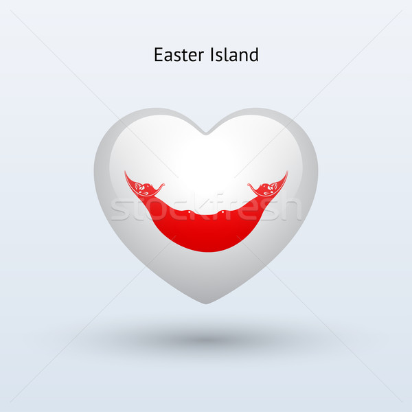 Amor Ilha de Páscoa símbolo coração bandeira ícone Foto stock © tkacchuk