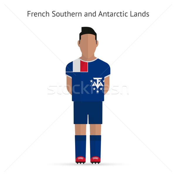 Francés meridional futbolista fútbol uniforme resumen Foto stock © tkacchuk