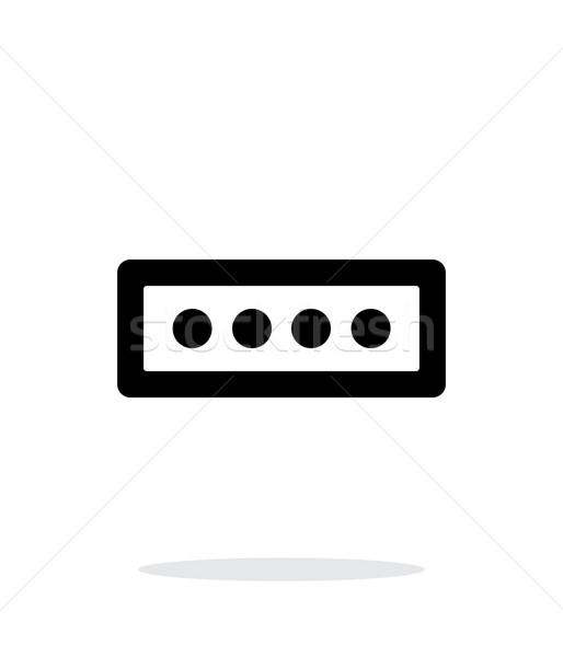 Senha forma ícone branco computador segurança Foto stock © tkacchuk