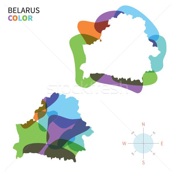 Soyut vektör renk harita Belarus şeffaf Stok fotoğraf © tkacchuk
