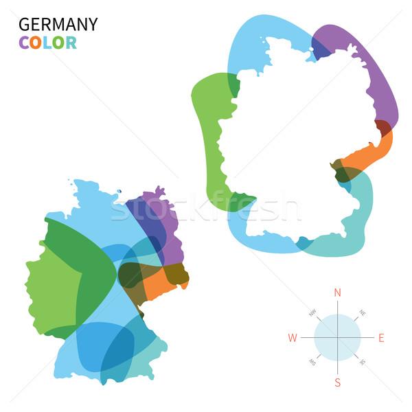 Abstract vettore colore mappa Germania trasparente Foto d'archivio © tkacchuk