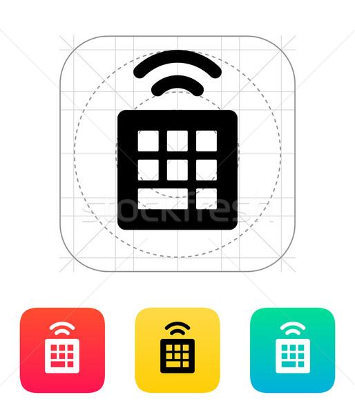 Wireless small keyboard icon. Stock photo © tkacchuk
