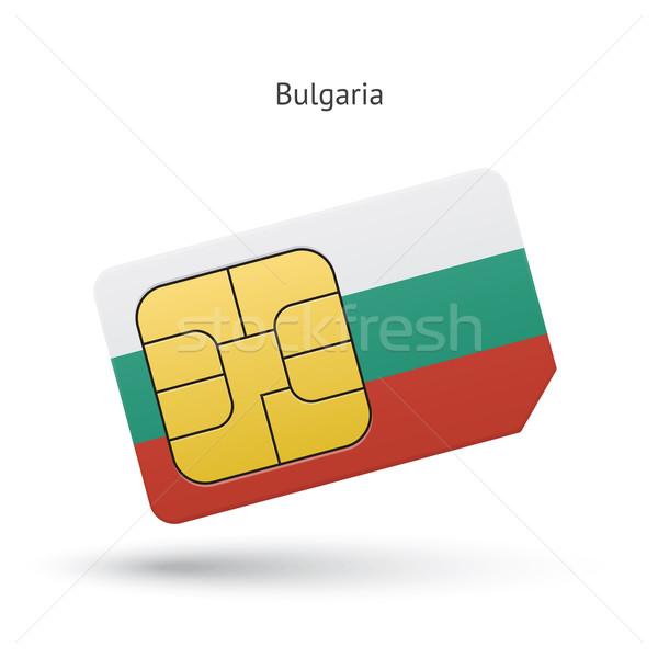 Bulgária mobiltelefon kártya zászló üzlet terv Stock fotó © tkacchuk