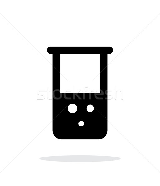 Flask with chemical reagent simple icon on white background. Stock photo © tkacchuk