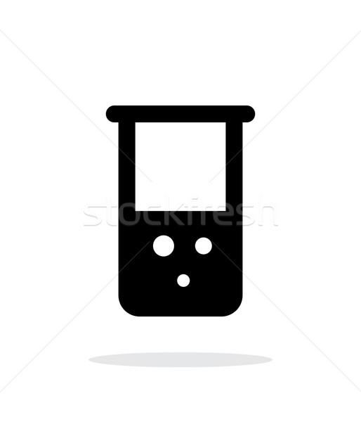 колба химического простой икона белый стекла Сток-фото © tkacchuk