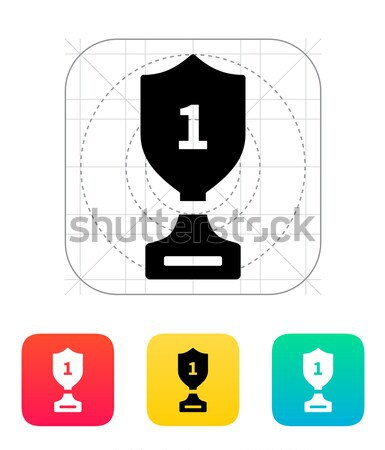 Trophy cup flat vector icon Stock photo © tkacchuk