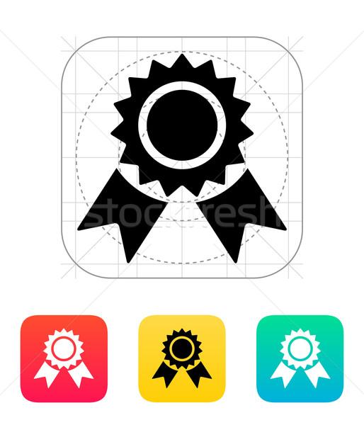 Kitűző ikon felirat szalag érem minőség Stock fotó © tkacchuk