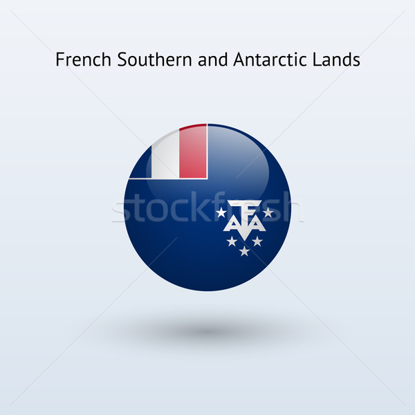 French Southern and Antarctic Lands round flag. Stock photo © tkacchuk