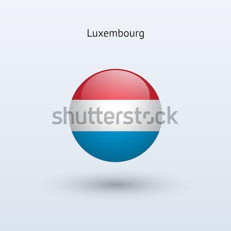Luxembourg round flag. Vector illustration. Stock photo © tkacchuk