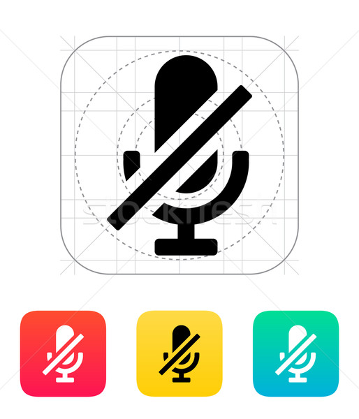 Turn off microphone icon. Stock photo © tkacchuk