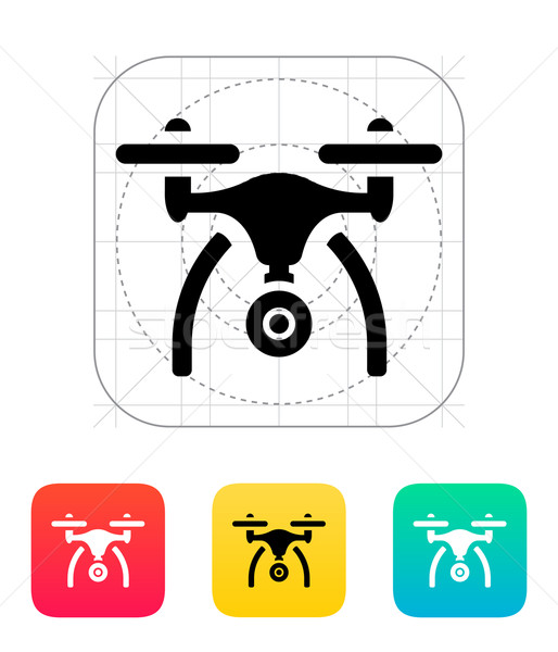 Copter with camera icon. Stock photo © tkacchuk