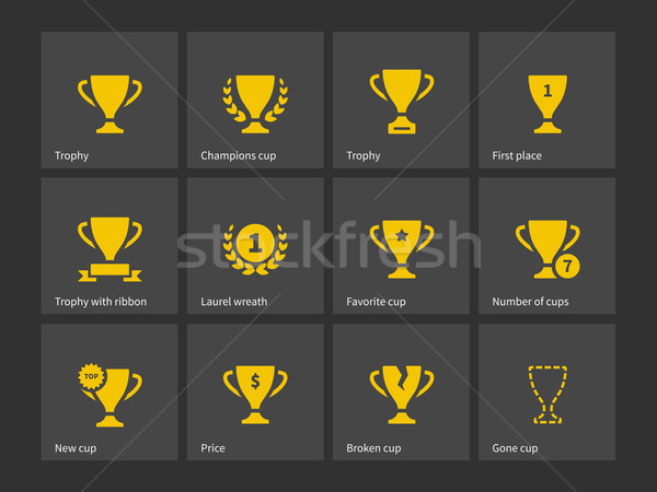 Champions trophy icons. Stock photo © tkacchuk