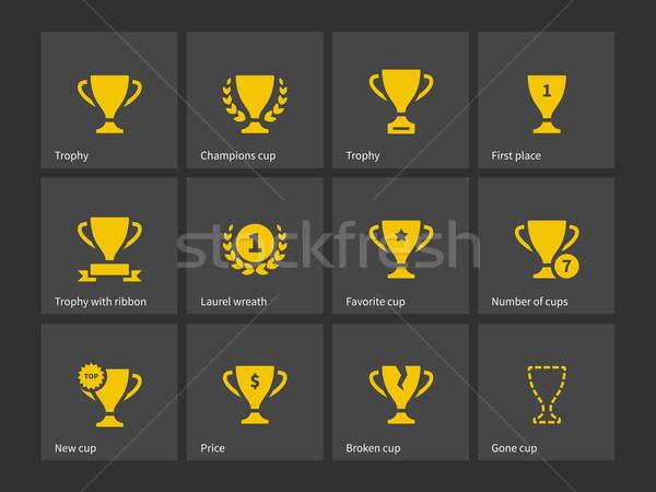 Champions trophy icons. Stock photo © tkacchuk