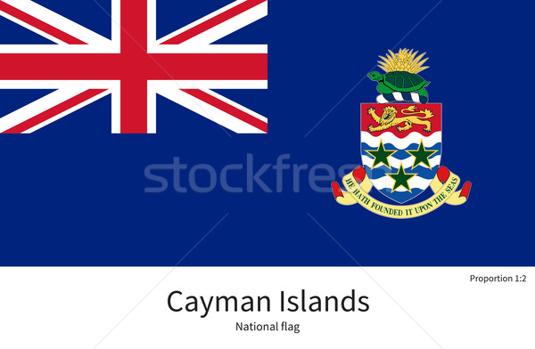 National flag of Cayman Islands with correct proportions, element, colors Stock photo © tkacchuk