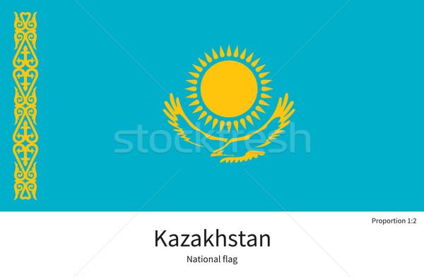 Bandera Kazajstán corregir elemento colores educación Foto stock © tkacchuk