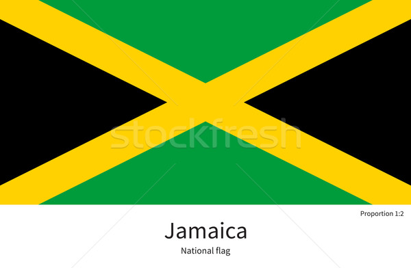 National flag of Jamaica with correct proportions, element, colors Stock photo © tkacchuk