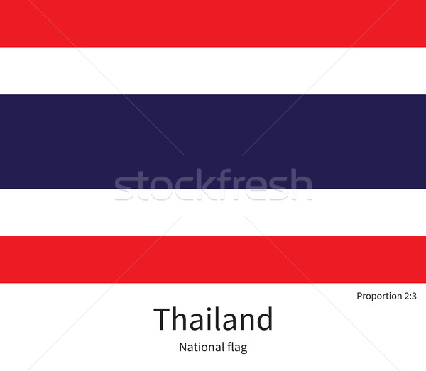 National flag of Thailand with correct proportions, element, colors Stock photo © tkacchuk