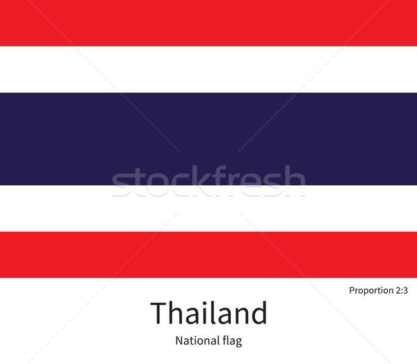 Bandeira Tailândia corrigir elemento cores educação Foto stock © tkacchuk