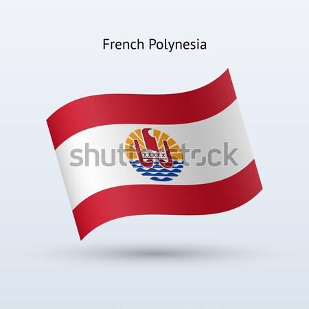 Carta di credito francese polinesia bandiera banca presentazioni Foto d'archivio © tkacchuk
