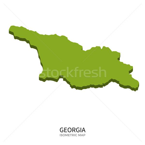 Isometrische kaart Georgië gedetailleerd geïsoleerd 3D Stockfoto © tkacchuk