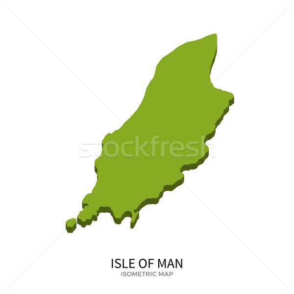 Isometric map of Isle of Man detailed vector illustration Stock photo © tkacchuk