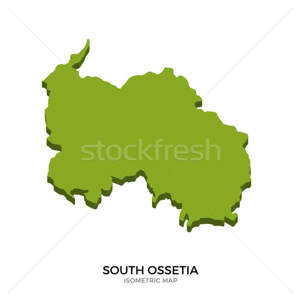 Isometric map of South Ossetia detailed vector illustration Stock photo © tkacchuk