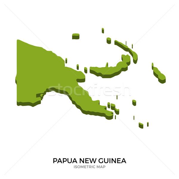 изометрический карта Папуа-Новая Гвинея подробный изолированный 3D Сток-фото © tkacchuk