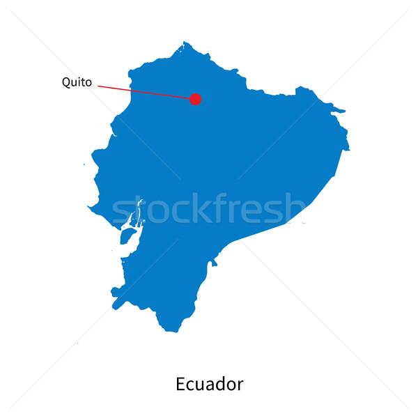 Detailed vector map of Ecuador and capital city Quito Stock photo © tkacchuk