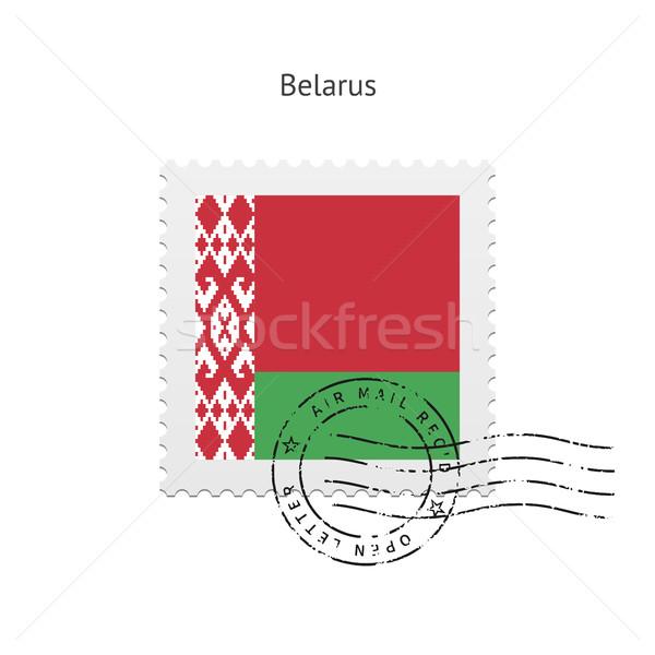 Belarus Flag Postage Stamp. Stock photo © tkacchuk