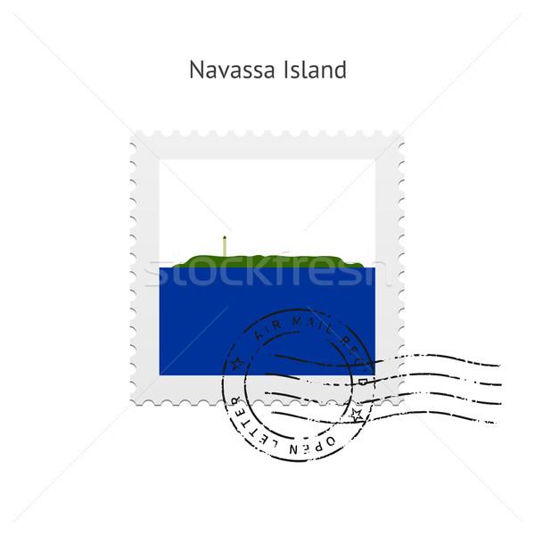 Ada bayrak beyaz imzalamak mektup Stok fotoğraf © tkacchuk