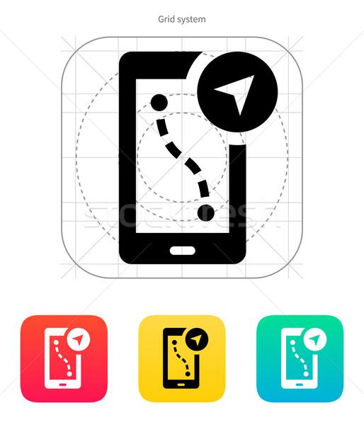 Route navigator icon. Vector illustration. Stock photo © tkacchuk