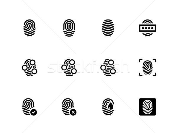 Fingerprint icons on white background. Stock photo © tkacchuk