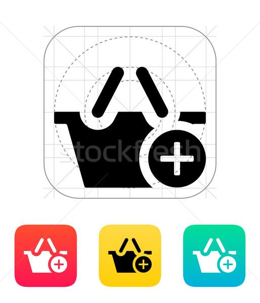 Bevásárlókosár meg ikon bolt táska piac Stock fotó © tkacchuk