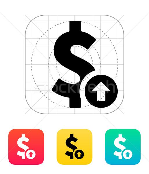 Dollar exchange rate up icon. Stock photo © tkacchuk