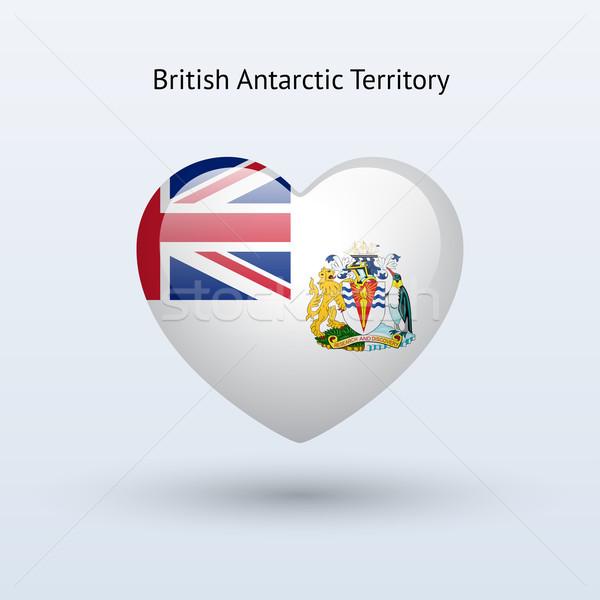 Love British Antarctic Territory symbol. Heart flag icon. Stock photo © tkacchuk