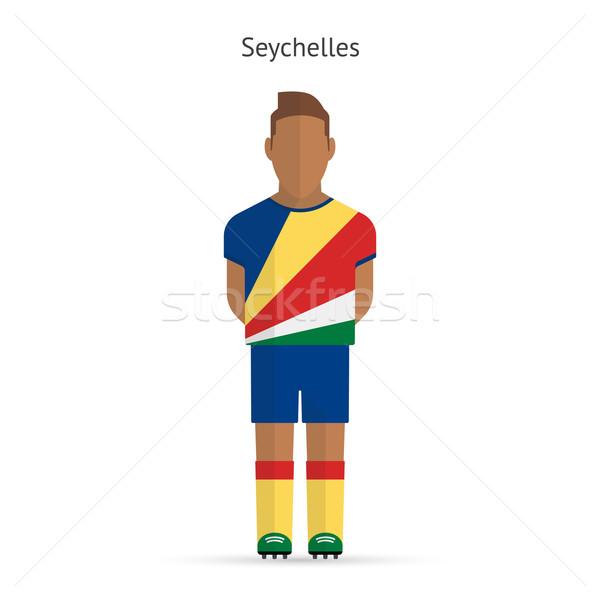 Сейшельские острова футболист Футбол равномерный аннотация фитнес Сток-фото © tkacchuk