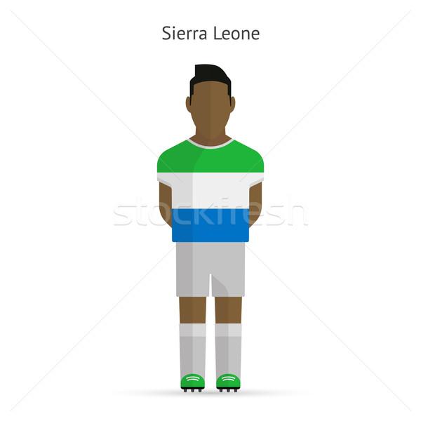 Sierra Leone football player. Soccer uniform. Stock photo © tkacchuk