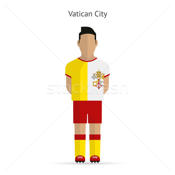 Stock photo: Vatican City football player. Soccer uniform.
