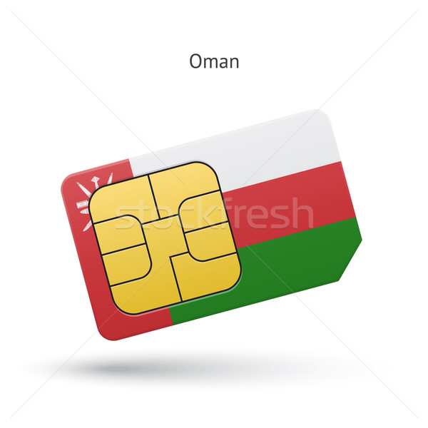 Umman cep telefonu kart bayrak iş dizayn Stok fotoğraf © tkacchuk