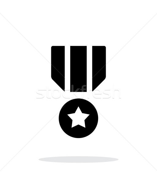 Militar medalla simple icono blanco metal Foto stock © tkacchuk
