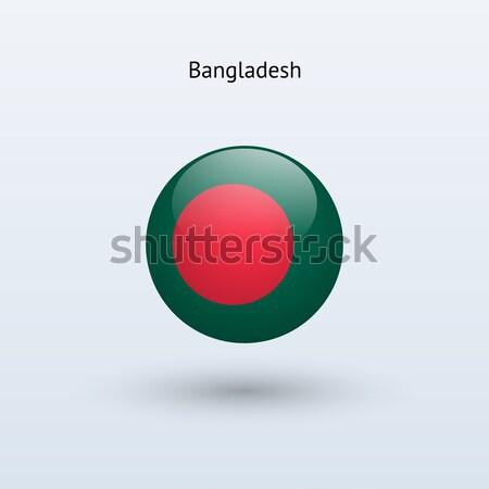 Banglades zászló szürke felirat háló utazás Stock fotó © tkacchuk
