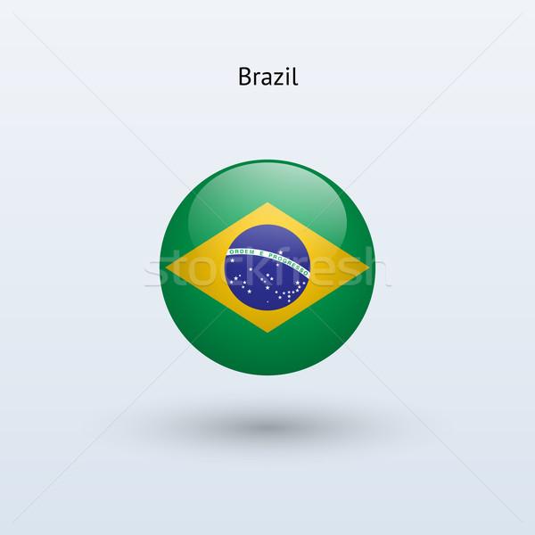 Brazylia banderą szary podpisania internetowych podróży Zdjęcia stock © tkacchuk