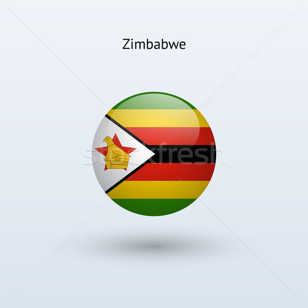 Zimbabwe round flag. Vector illustration. Stock photo © tkacchuk